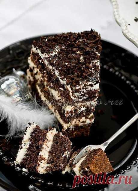 Торт с маком и ванильным кремом - Рецепты с фото