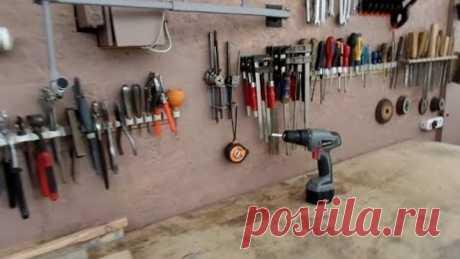 Мои рабочие стенки для хранения ручного инструмента в дачной мастерской