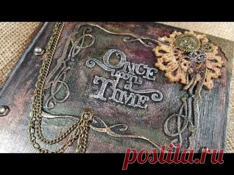 Steampunk Book Cover Tutorial - YouTube