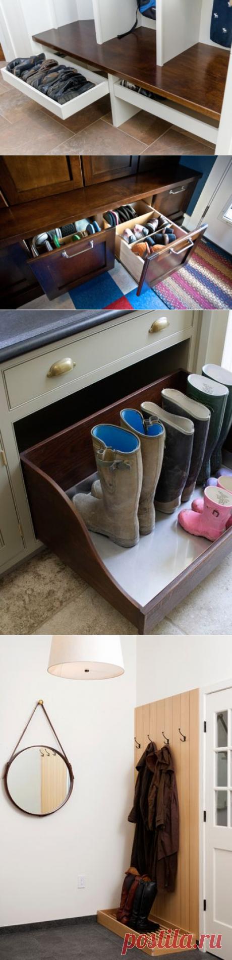 Хранение обуви  как хранить обувь в прихожей – идеи и варианты 52be63161a2
