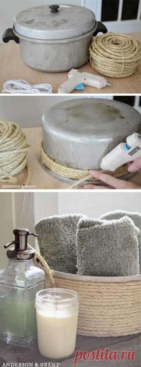 Не спешите выбрасывать старые вещи: 13 идей, как можно украсить ванную | Хитрости жизни