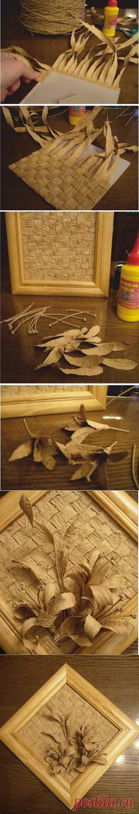 Панно из бумажного шпагата