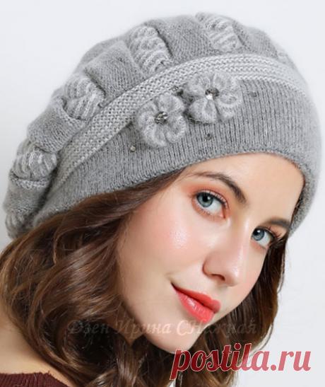 Красивые и оригинальные идеи для вязания шапочек. | Ирина СНежная & Вязание | Яндекс Дзен