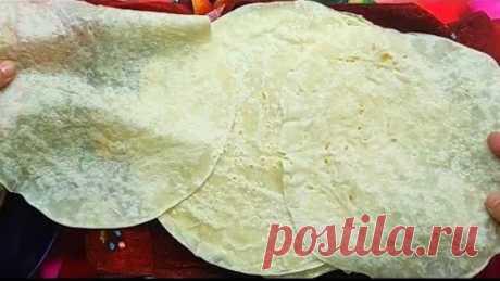 Самое лёгкое и всегда удачное тесто для лаваша