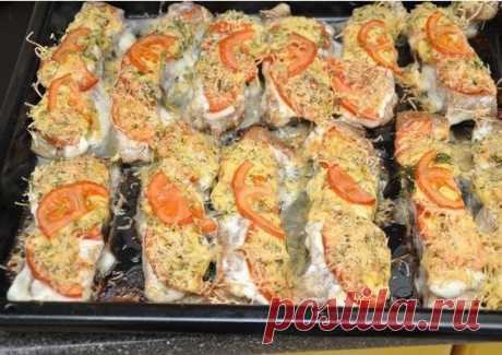 Как приготовить рыбка с сыром и помидорами - рецепт, ингредиенты и фотографии