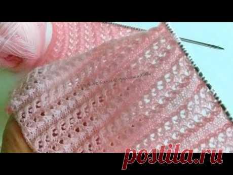 Вяжу жакет простым и эффектным ажурным узором😍 - Ажурные миниатюрные косички спицами 😍