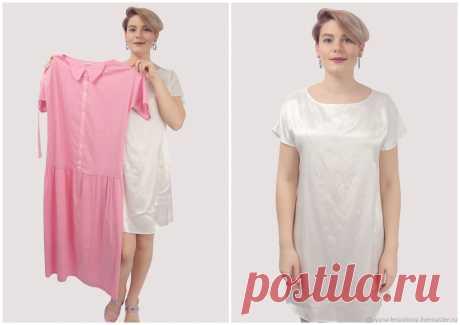 Платье розовое с жемчужными пуговицами рубашка длинное хлопок – купить на Ярмарке Мастеров – LOP88RU | Платья, Москва