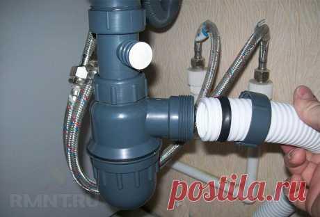 Прочистка и устранение засора в раковине и канализации RMNT.RU