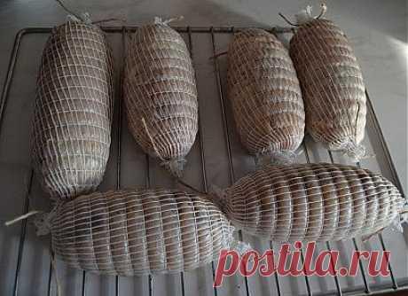 Рецепт ветчины из курицы и говяжьего языка.