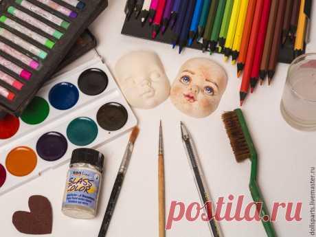 Мастер-класс: роспись кукольного лица – Ярмарка Мастеров