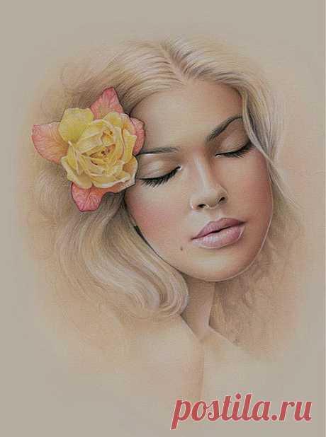 Картины-портреты красивых женщин от художницы Бек Уиннел (Bec Winnel).