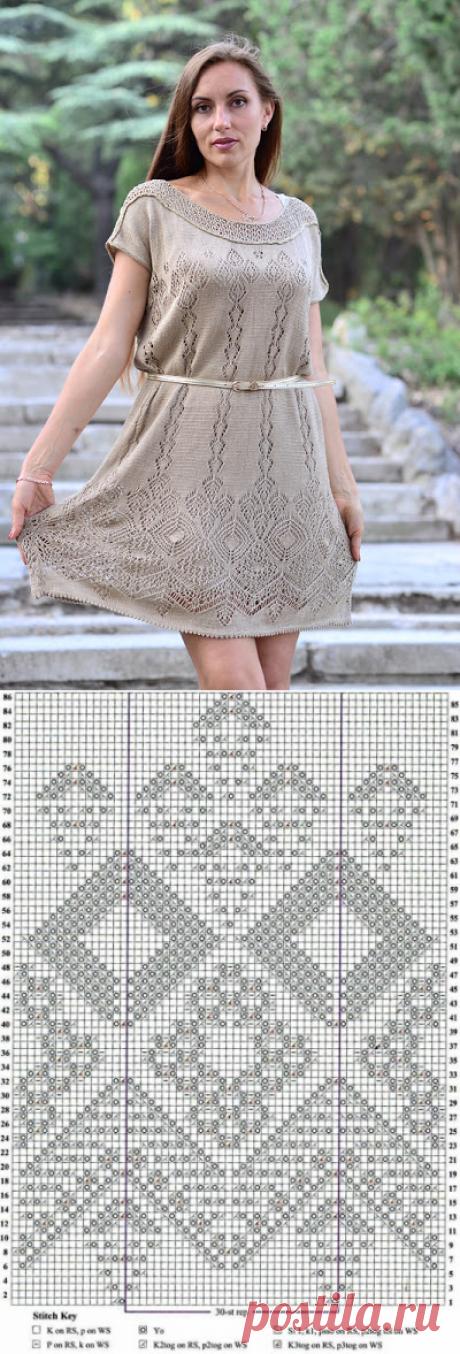 Платье шетландскими мотивами схемы. Платье шетландское кружево  
