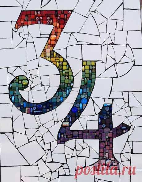 Необычная интерьерная мозаика (трафик)