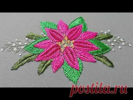 Romanian stitches | Flower fantasy | Romanian lace on fabric | new design stitch