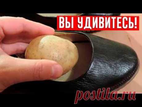 Вот почему засунуть чищеный картофель в обувь - ОТЛИЧНАЯ ИДЕЯ!  Этот совет пригодится всем!
