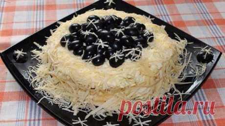 Салат «Черный жемчуг» — воздушный, соблазнительно аппетитный, вкусный и красивый. - Копилка идей