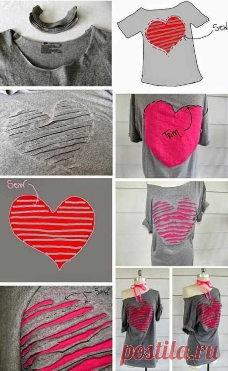 5 примеров сделать стильной простую футболку. Покупаю в секонд хенд за копейки.   Провинциалка в теме   Яндекс Дзен