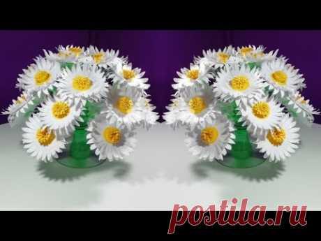 Make Wonderful paper flower || Empty plastic bottle vase making crafte-Water bottle Recycle flower