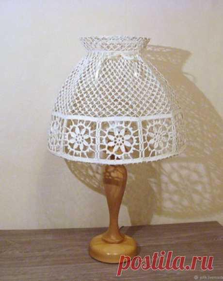 Большой абажур для настольной лампы или торшера, вязаный крючком – купить в интернет-магазине HobbyPortal.ru с доставкой