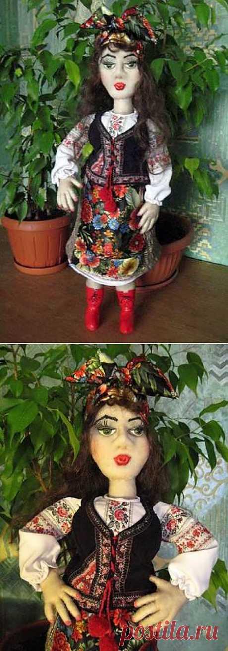 """Садовая кукла """"Великолепная Солоха"""" от Заполарии. Подробный мастер-класс."""