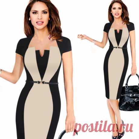 Women Elegant Work Office Business Party Bodycon Dress – Aqilabuy