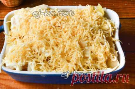 Картошка по-французски с курицей в духовке - пошаговый рецепт с фото