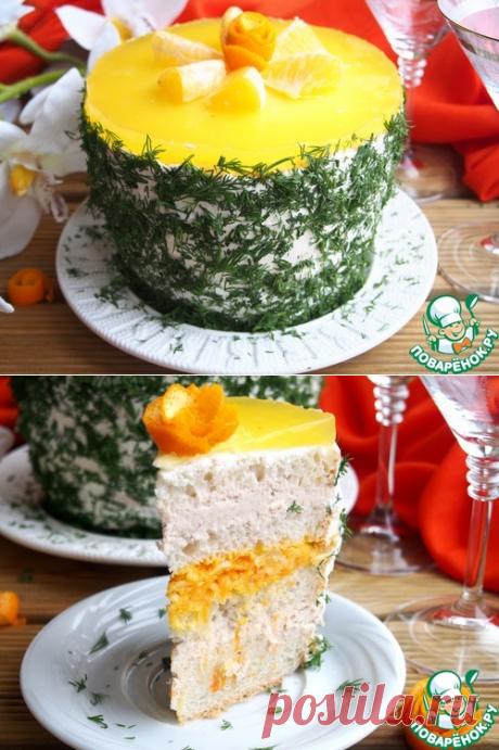 Закусочный торт с куриным паштетом - кулинарный рецепт - Антрекот - большая кулинарная книга