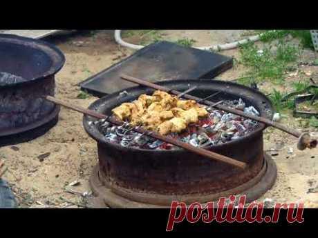 Мангал из камазовского диска | Жизнь в деревне