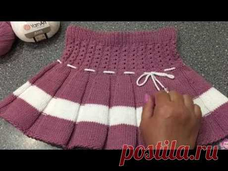 Вяжем юбочку для девочки спицами. Юбочка «Кокетка»