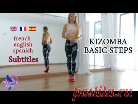 How to do the basic steps in Kizomba LadyStyling   Online Lesson with Morgane Lucia [SUBTITLES]