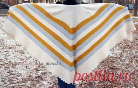 Шаль спицами Крылья Пиумы, Вязание для женщин