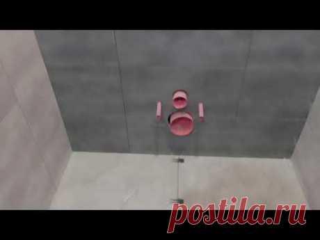 Укладка плитки в туалете сделана! Ремонт двушки. ЖК Красный Аксай
