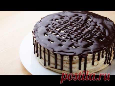 Торт без выпечки, без раскатки коржей, «Проще простого»