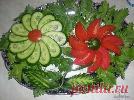 Украшение блюд: цветы и растения из продуктов   Сайт для любознательных