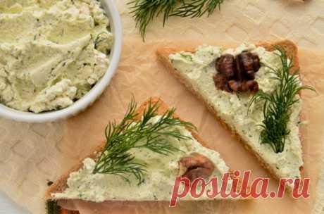 Паштет из творога с зеленью и орехами: рецепт с фото
