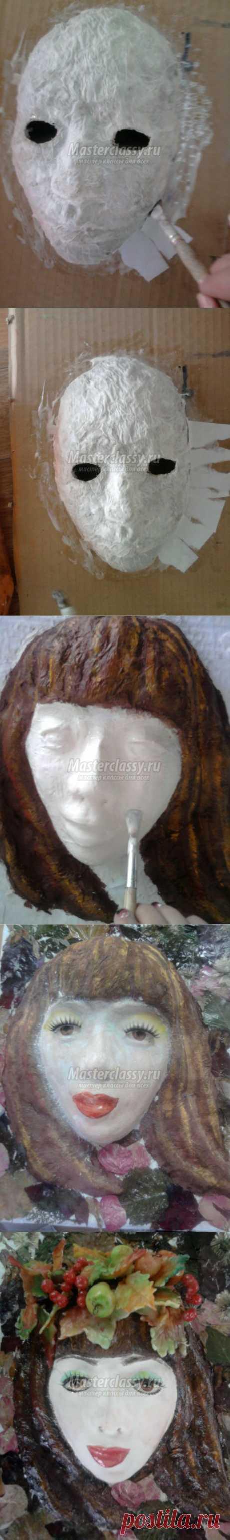 Девушка – осень в технике папье-маше. Мастер класс с пошаговым фото