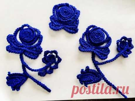 Crochet Flower - Lace Rose - YouTube Кружевная роза