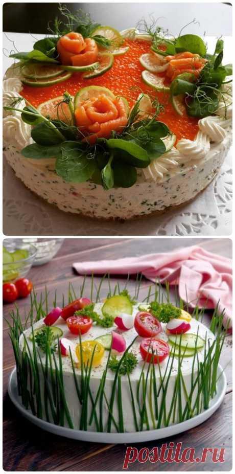 Закуска, которая нравится всем: Бутербродный торт