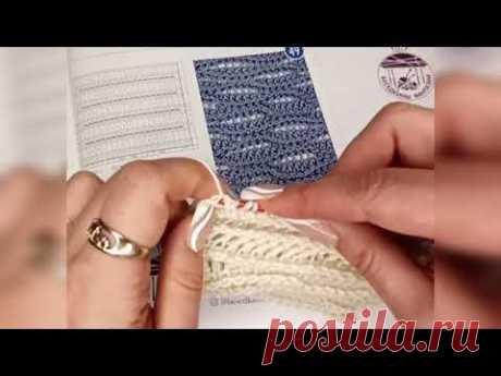Тунисское вязание. Тунисский узор с волнами