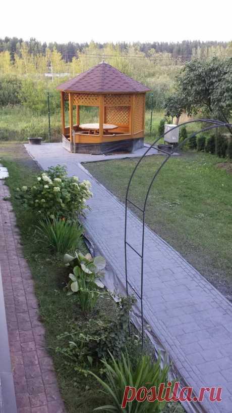 I impart experience. Garden paths...