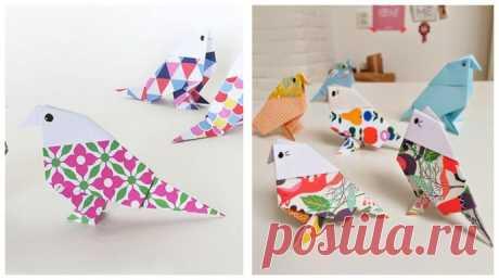 Птички-очаровашки в технике оригами — Поделки с детьми