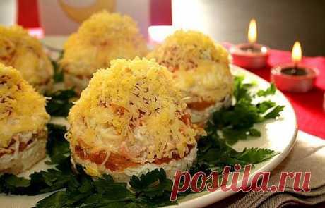 Романтический салат Мимоза