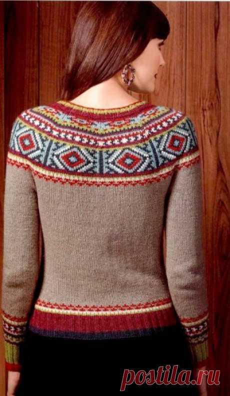"""Пуловер-лопапейса """"Персия"""" от Норы Гохан из категории Интересные идеи – Вязаные идеи, идеи для вязания"""