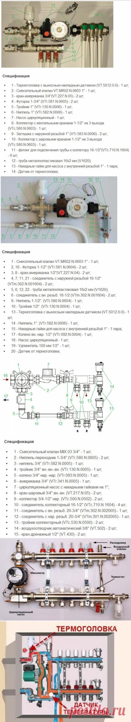 Как подключить радиаторы и теплый пол к котлу: насосно-смесительный узел