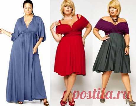 Фасоны платьев для полных женщин маленького роста: что следует избегать полным дамам?
