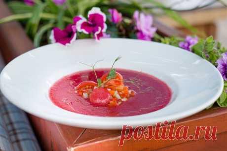 Холодный вишнёвый суп//ОПТИМИСТ