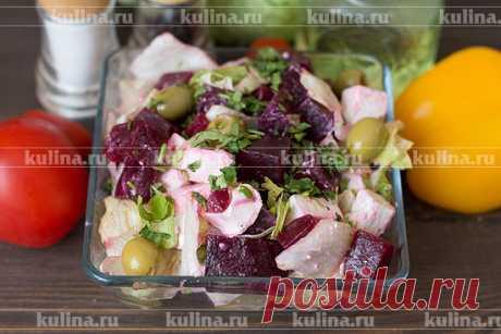 Простой салат из свеклы – рецепт приготовления с фото от Kulina.Ru