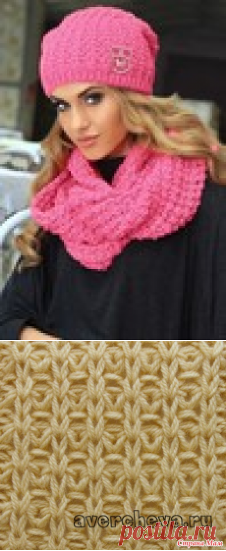 Красивый узор спицами для вязания плотных вещей