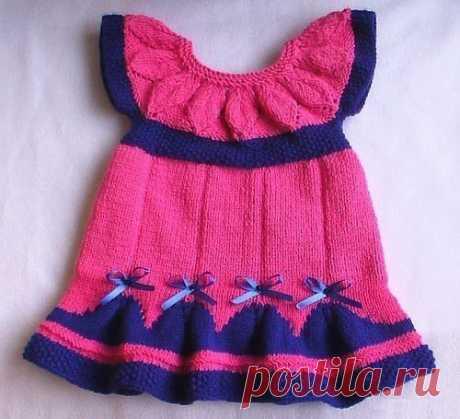 Нарядное платье для девочки -малышки