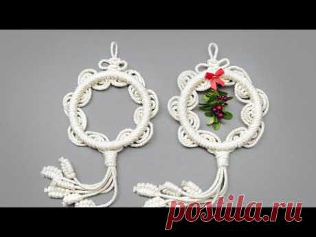 ROUND AND WAVY MACRAMÉ ORNAMENTS NEW DESIGN TUTORIAL - YouTube